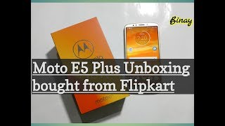 Moto e5 plus Unboxing & Overview bought from Flipkart