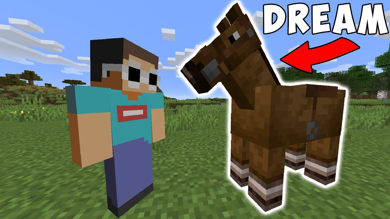 Minecraft, But My Friend Is A Horse...