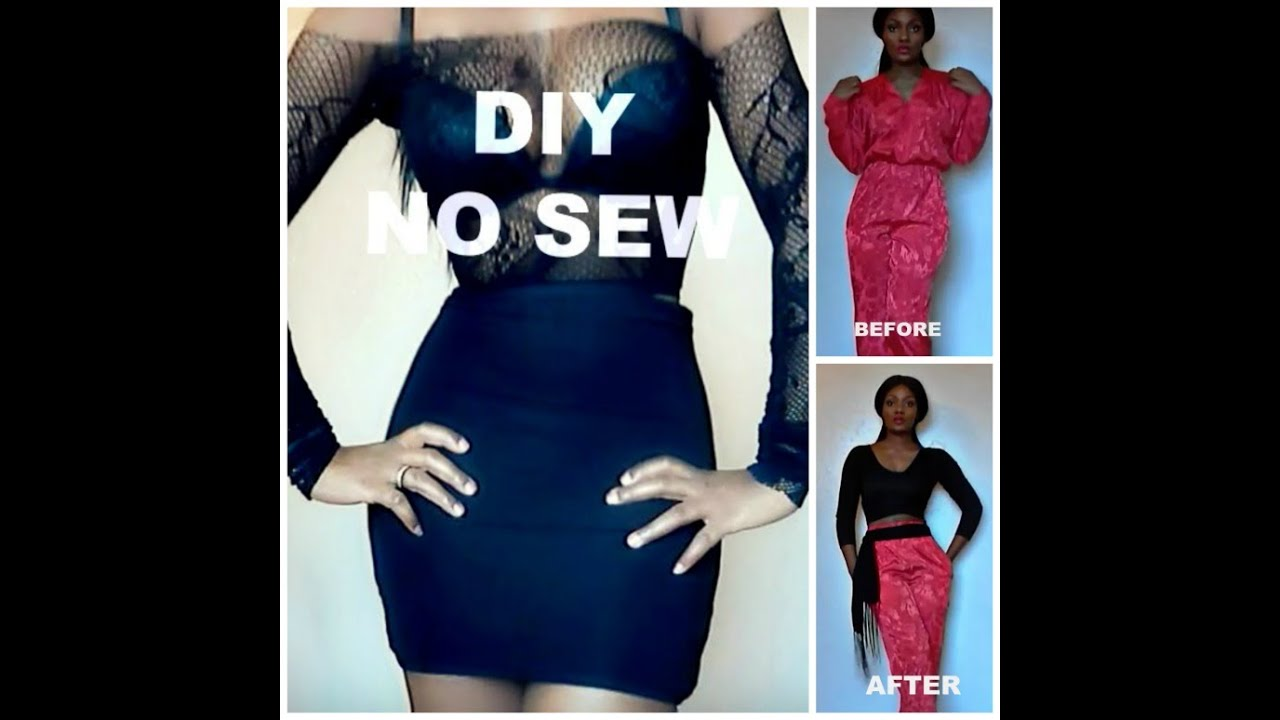 No Sew Diy Clothes Revamp and LOOKBOOK
