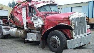 Топ 10 самые зрелищные аварии грузовиков 2017 Мега подборка #1