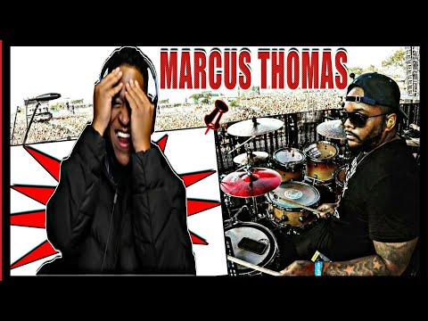 Drummer Reactions -Marcus Thomas On Drums!