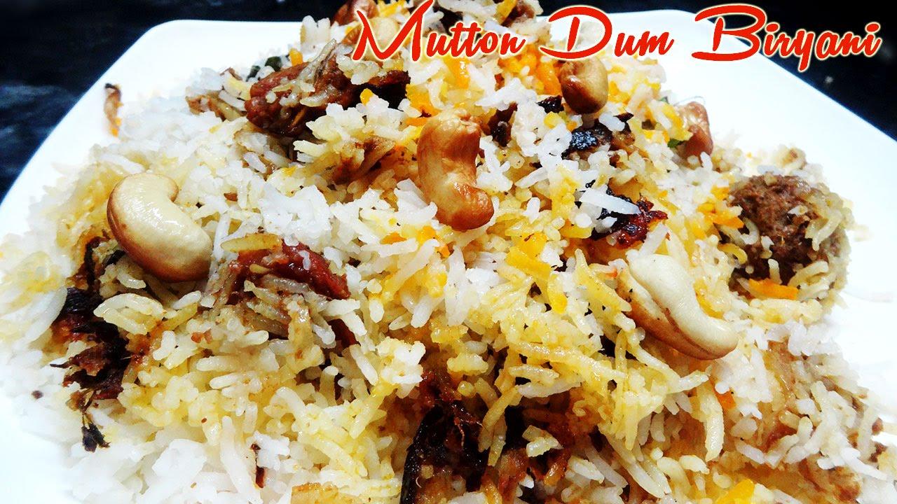 Mutton Dum Biryani Preparation In Telugu Youtube