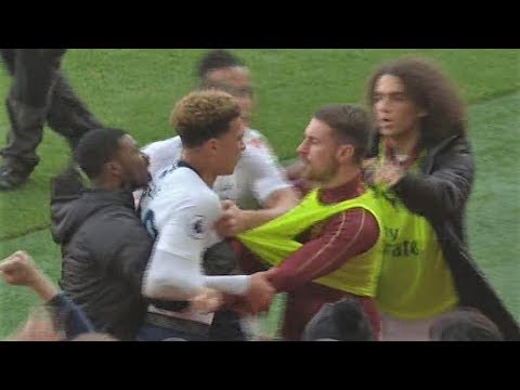 Arsenal vs Tottenham Players BRAWL at The North London derby 2018 Mp3
