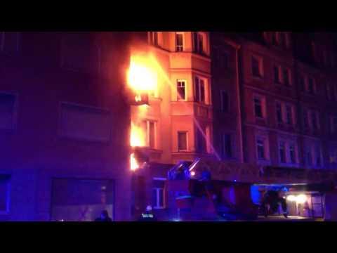 Feuer im Hummelsteiner Weg in Nürnberg an Silvester