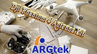 dji phantom 4 p3 pro advanced wifi range extender 4x 7 5km installation by argtek gm5