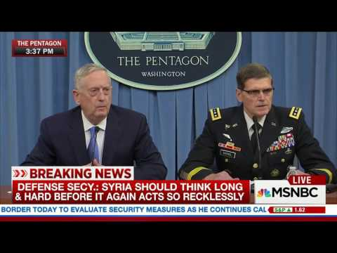 NBC News/MSNBC Live: Defense Secretary Briefing (Apr 11, 2017)