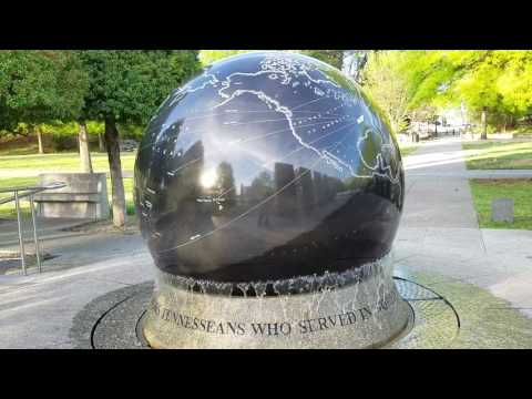 The World  Globe at the Bicentennial Capital mall state park in Nashville Tennessee.