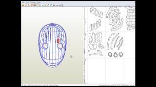 Descargar las plantillas de la MACARA DE OBITO para papercraft.(Mask Obito)(Tamaño real)(Life Size)