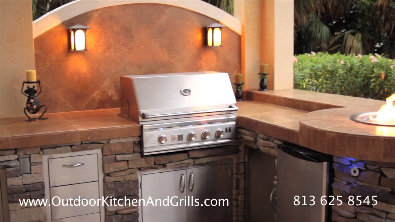 custom outdoor kitchen in st pete fl clearwater florida with grill