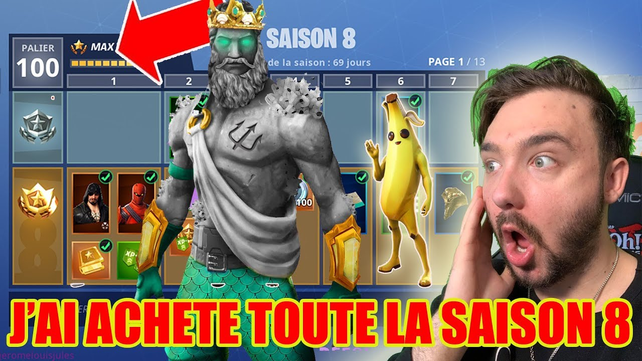 j achete tout le pass de combat saison 8 fortnite battle royale epic skin secret - fortnite passe de combat saison 8 skin