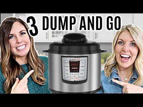 3 Healthy DUMP AND GO Instant Pot Recipes - Easy Instant Pot Recipes