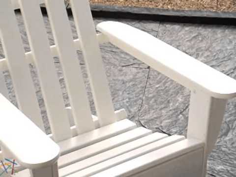 POLYWOOD® Recycled Plastic Classic Adirondack Chair and Side Table Set - Product Review Video