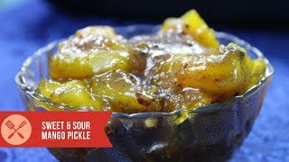 Amazing Sweet & Sour Mango Pickle a quick and easy sweet mago pickle recipe