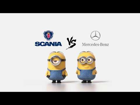 Scania vs Mercedes Minions Style ( Funny )