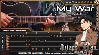 "Attack on Titan (Final Season) - My War ""Boku no Sensou"" - Fingerstyle Guitar Cover 