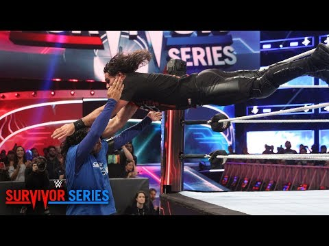 Seth Rollins throttles Shinsuke Nakamura with 3 dives in a row: Survivor Series 2018 (WWE Network)