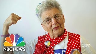 Former 'Rosie The Riveter' Makes Masks To Protect Against Coronavirus | NBC Nightly News