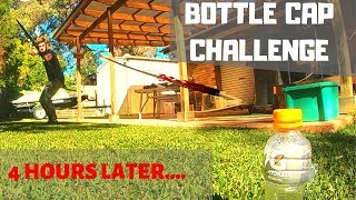 BOTTLE CAP CHALLENGE What it really TAKES!!!! 4 hours trying