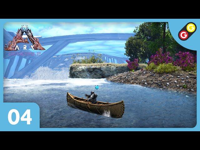 ARK : Survival Evolved - Genesis 2 #04 Première mission en canoë ! [FR]