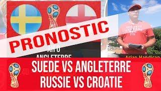 Pronostic Suede vs Angleterre, Russie vs Croatie, Coupe du monde 2018, quart de finale
