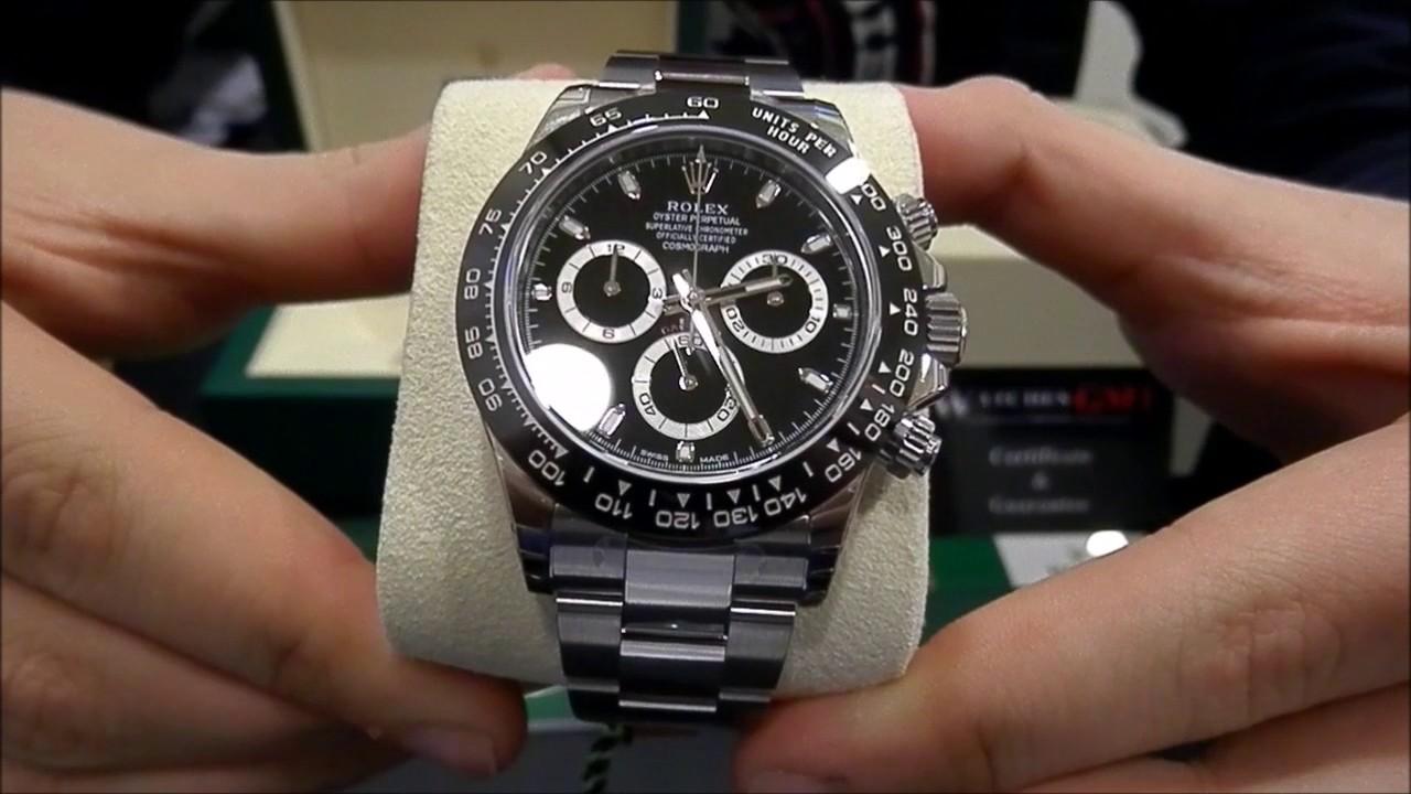 2e1c2099955 Rolex Cosmograph Daytona Ceramic 116500LN Black 2017 New Model | WatchesGMT