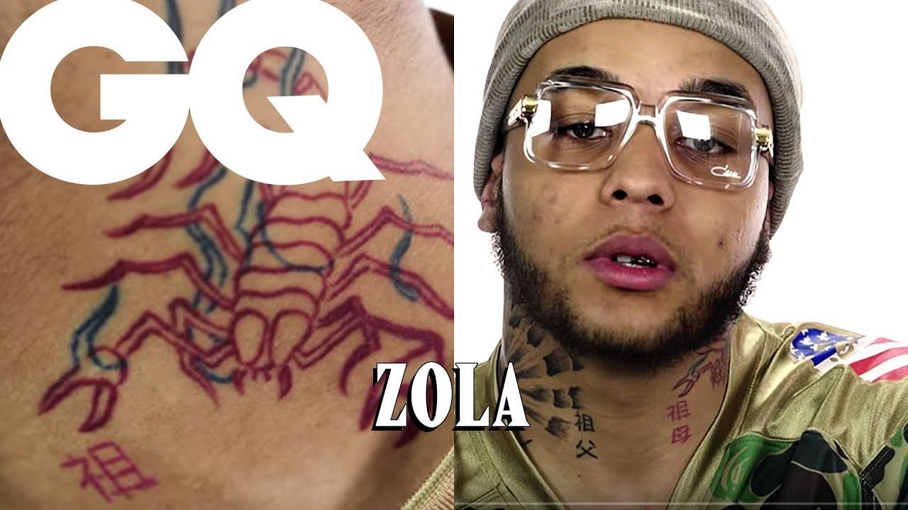 Zola révèle le secret de ses tatouages