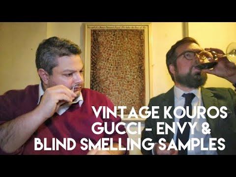 Vintage Kouros And Gucci Envy + Blind Smelling 10 Samples