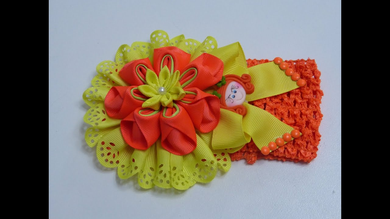 Como hacer lazos flores list n gros tutorial balacas - Material para hacer diademas ...