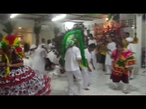 caboclo 7 flechas dança com seus filhos em 20/01/2013
