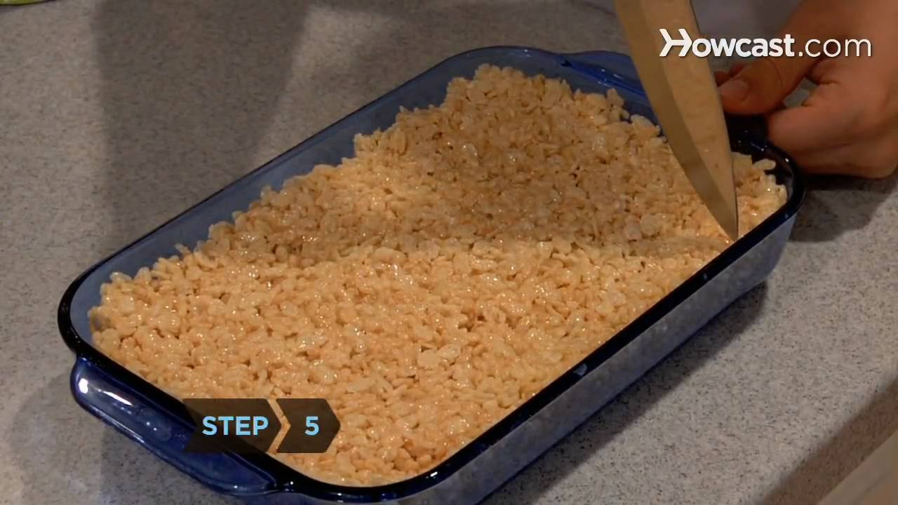 How to make rice krispie cakes stick together