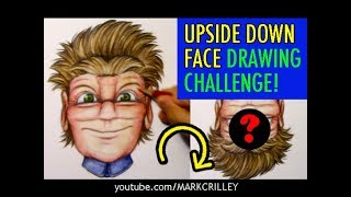The UPSIDE DOWN FACE Drawing Challenge!