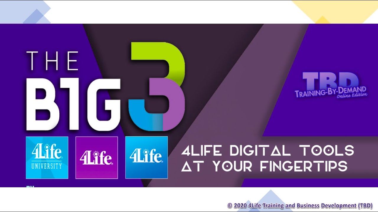 The BIG 3 - 4Life Digital Tools to Grow your Business