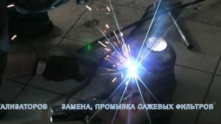 Замена катализаторов на пламегасители, замена гофры глушителя на Hyunday Sonata(, 2013-06-12T12:14:17.000Z)