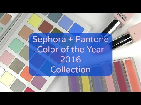 sephora pantone color of the year 2016 collection live swatches review youtube. Black Bedroom Furniture Sets. Home Design Ideas