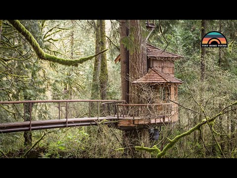 Live Simply In This Gorgeous Tree House Tiny Home | Full Of Clever Build Insights