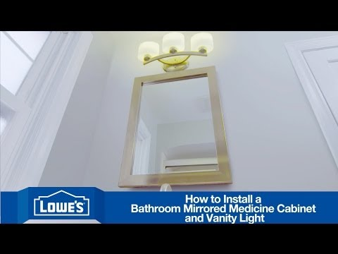 How To Install A Bathroom Vanity Mirror Amp Light Youtube