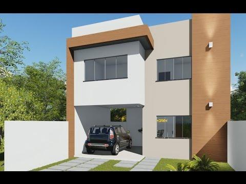 Planta de sobrado com varanda gourmet e 3 quartos c d for Casa moderna 2 andares 3 quartos