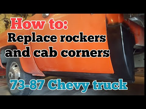 How to replace rockers and cab corners 73 to 87 chevy truck