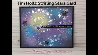Sizzix B07F1GCX6D Swirling Stars by Tim Holtz