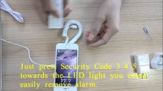Защита смартфона на витрине магазина Protection of smartphones in the storefront