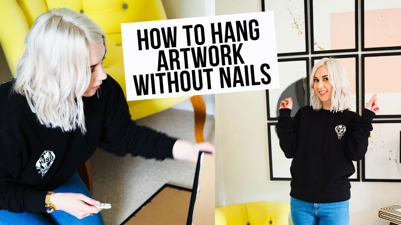 How To Hang Pictures Without Damaging Walls How To Hang