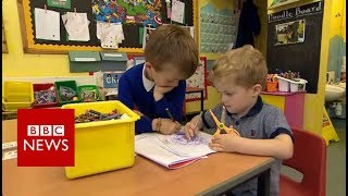 Boy, 5, saves brother from choking on meatball - BBC News