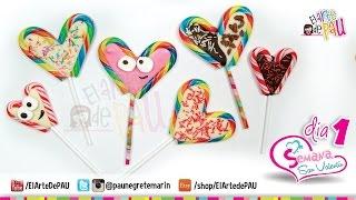 (Day 1) Valentine's Day Chocolate&Candy Lollipop / (Día 1) Paleta de caramelo San Valentín Thumbnail
