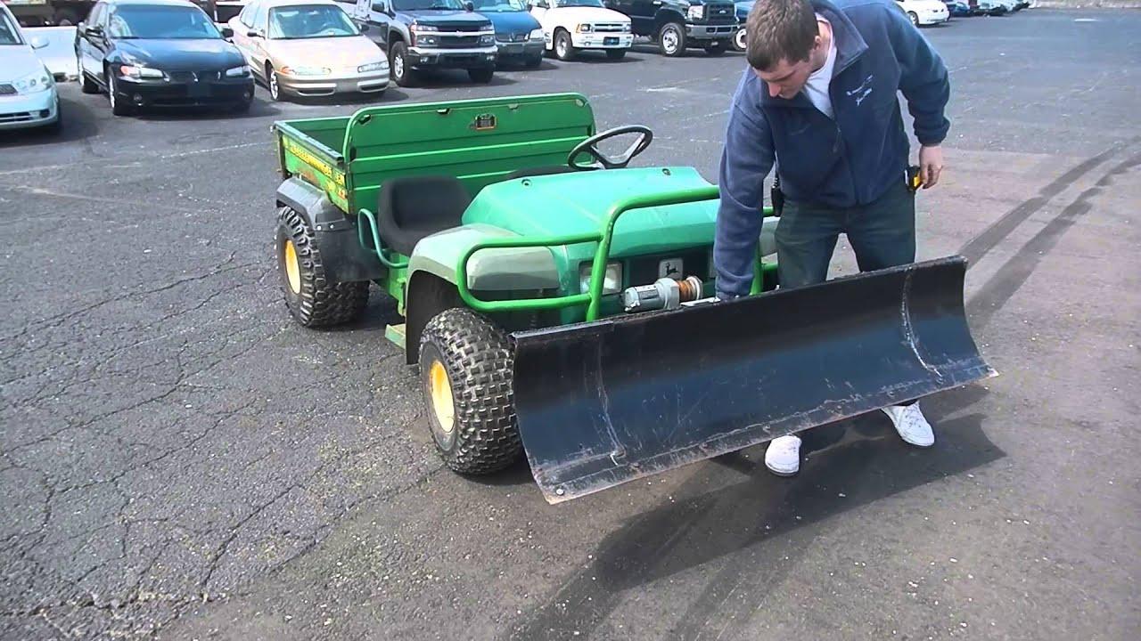 John Deere Gator Snow Plow >> John Deere 4x2 - YouTube