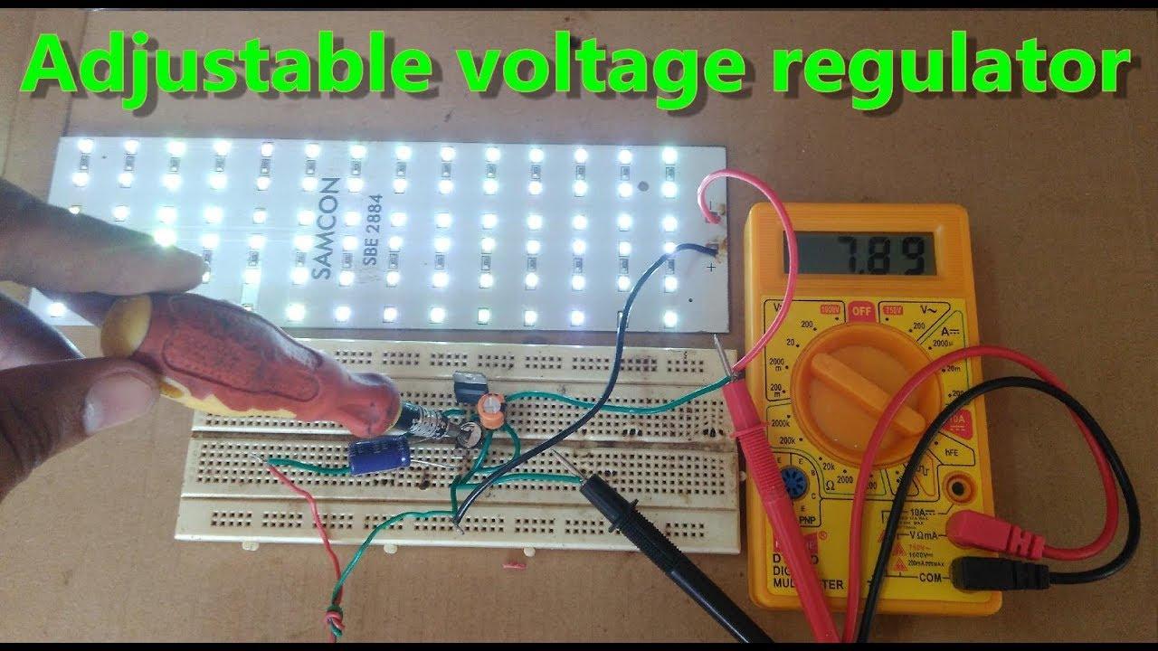 Simple 5v To 32v Dc Adjustable Voltage Regulator Make Using Circuit Diagram Of 7805 5vlm7805