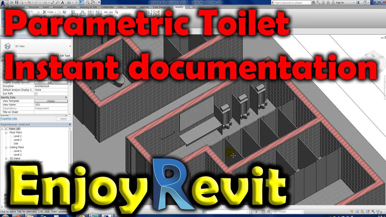 Bathroom Stalls Revit revit tips - document ready smart parametric toilet families - youtube