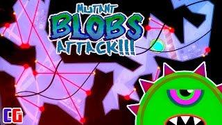 Побег с КОСМИЧЕСКОГО КОРАБЛЯ. Приключение СЛИЗНЯКА МУТАНТА Мультяшная игра Mutant Blobs Attack