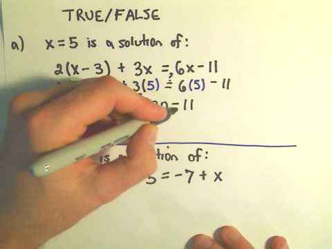 An Intro To Solving Linear Equations What Does It Mean To Be Solution