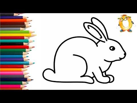 Раскраска для детей ДОБРЫЙ КРОЛИК. Мультик - Раскраска. Учим цвета II ОБУЧАШКА ТВ
