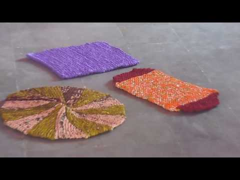 Mats Making with waste sarees